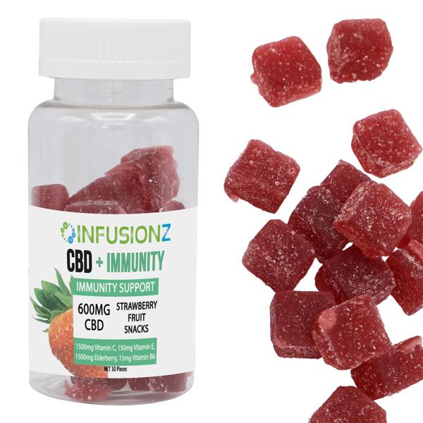 Immunity Elderberry CBD Gummies with Vitamins